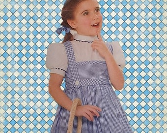 Girls Wizard of Oz Dorothy Dress Costume Sizes 3 to 8