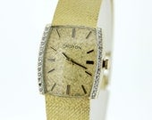 14K Gold Croton Diamond Bezel Wrist Watch