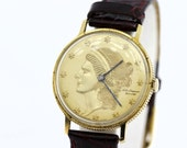 14K Gold Coin Jules Jurgensen Corp Wrist Watch