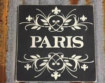 Paris - Handmade Wood Sign