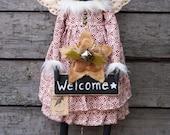 Textile Doll PDF Digital Pattern 'Winter Angel Cat' Christmas Home Decor