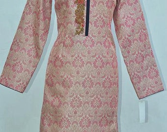 Peach and Gold Embroidered Jacket/Sherwani