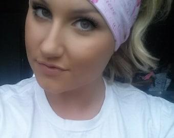 Breast Cancer Inspirational Words Yoga Headband