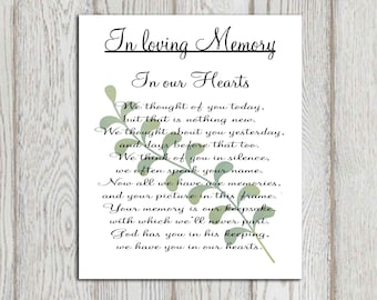 memorial sign printable in loving memory print wedding, Powerpoint templates