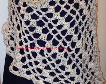 Shoulder Wrap - Oat Color and Rosette