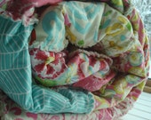 Custom RAG QUILT // You CHooSe SiZe, CoLoR and Style!! // Shabby Chic, Rustic Modern, Cottage, Quilt, Throw thru Twin Sized - YOU PiCK!