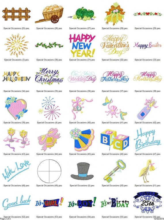 Special Occasion Sayings Embroidery Designs INSTANT DOWNLOAD 115 Designs