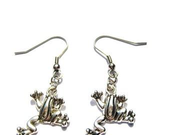 Frog Earrings Tree Frog  Jewelry Froggy Jewelry Jumping For Joy Earrings Tree Frog Earring Froggy Earrings  Gifts Under 20