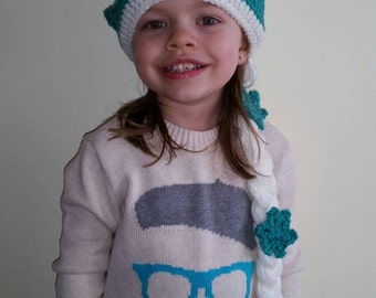 Custom Crochet Queen Elsa Hat