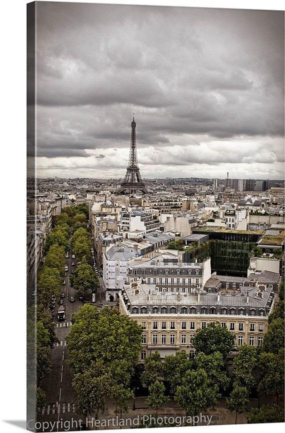 Large Canvas Print, Paris Landscape, Eiffel Tower, France Photo, City Photography, Oversized Gallery Wrap, Extra Large Wall Decor, Fine Art