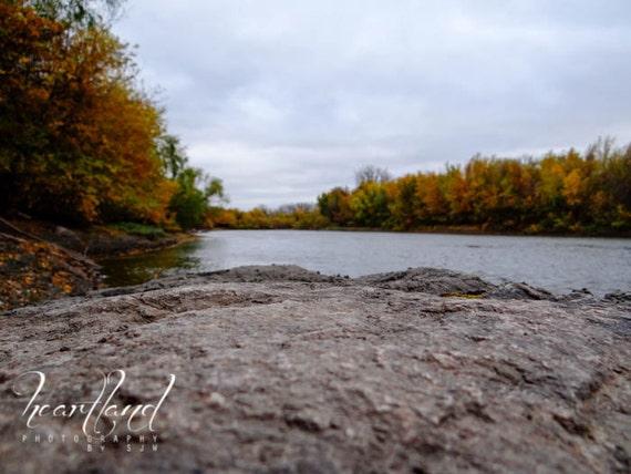 Nature Landscape, Fall Colors, Autumn Lake, Minnesota Photo, Fine Art Photography, Unique View, Midwest Images, 8x10, 8x12, 10x13, 11x14