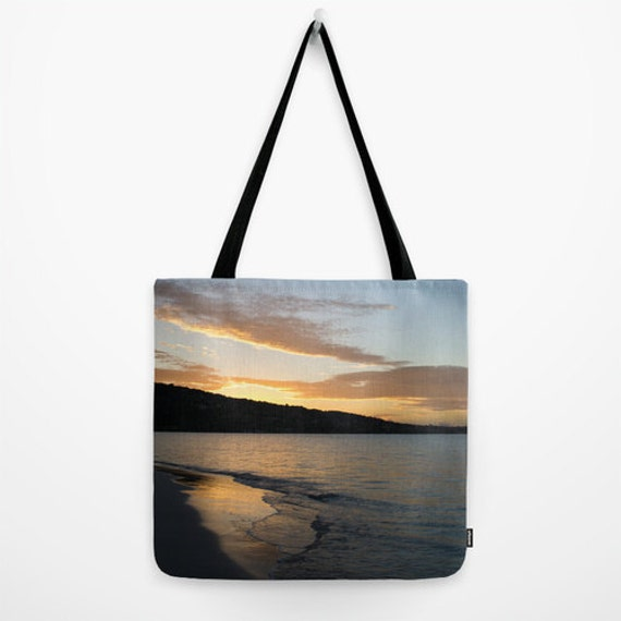 Ocean Tote, Beach Sunrise, Calm Photography, Grocery Bag, Reusable Tote, Yoga Gear, Travel Carry All, Landscape Photo, Wave Images
