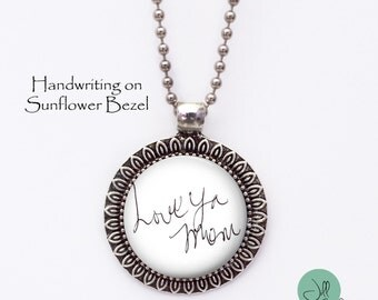 Custom Handwriting necklace - Child's Handwriting -YOUR Loved ones Handwriting or signature - Loved Ones Handwriting - handwriting charm