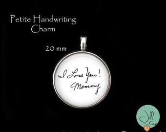 Handwriting Charm - 20 mm - signature charm, loved one's handwriting, handwriting jewelry - handwriting memorial charm - child's handwriting