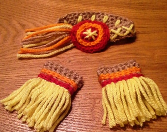 Indian Headband & Ankle Cuffs