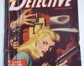 New Detective Vol. 8 No. 3 May 1946 Crime / Mystery Pulp Magazine
