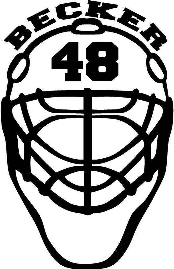 Hockey Helmet Decal Etsy Vinpearl Baidai Info