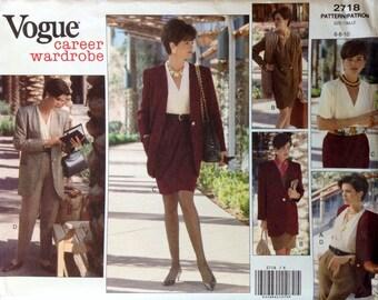 Vogue 2718 UNCUT Misses Jacket, Dress, Blouse, Skirt & Pants