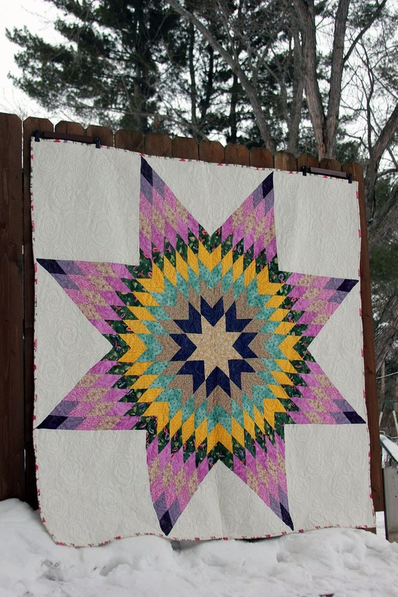 Lone Star Quilt Texas Star Quilt By Darssewingcreations On