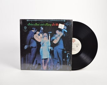 """PETER, PAUL & MARY - """"In Concert"""" vinyl record"""