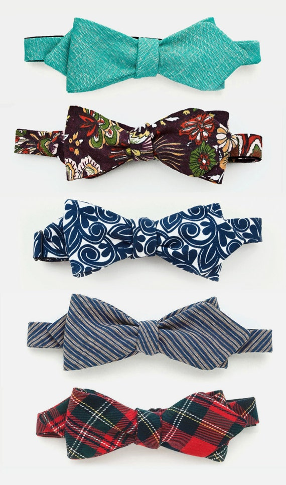 men's bow ties - untied diamond style