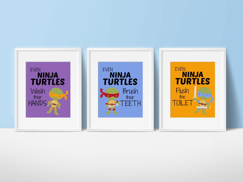 Kids Bathroom Ninja Turtles Bathroom By SimplyLoveCreations