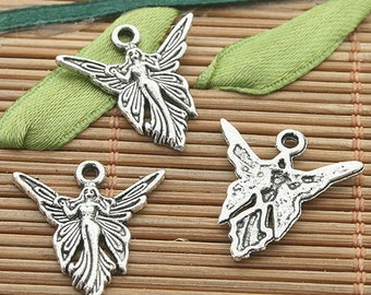 SALE**Summer Clearance**Small Tibetan Silver Fairy Charm