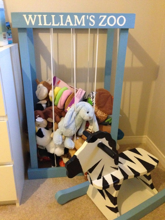 3 Stuffed Animal Cage Zoo Storage Painted With Your