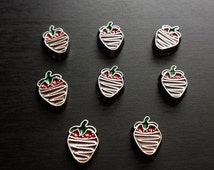 Chocolate Covered Strawberry Floating Charm for Floating Lockets-Gift Idea