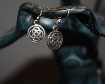 Sterling Silver Celtic Love Knot Earrings