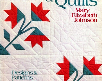 A Garden of Quilts by Mary Elizabeth Johnson | Oxmoor House | Applique | Flower Quilts | Vintage Quilts | Craft Book