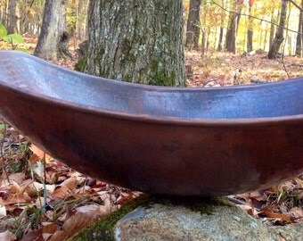 Roman Oval Vessel Sink - Rolled Edging, Shown in Espresso Patina