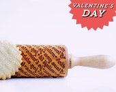 """Valentine's Day """"I love you"""" languages - embossing rolling pin, laser engraved rolling pin. <3"""