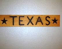 rustic texas sign ~ mancave texas sign ~ branding iron board ~ texas longhorns