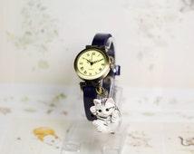 Miss cat,Wrist watch, Women watch, Leather Watch ,Birthday gift, Special gift