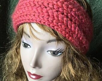 Twisted Ear Wrap - a loom knit pattern