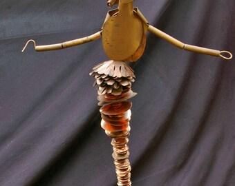 Mermaid Copper Sculpture