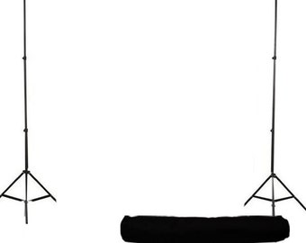 Photography Backdrop Stand LARGE - Backdrop Portable Stand - Backdrop Support System - Photography Studio Equipment - 10x8 ft  w/ Carry Bag