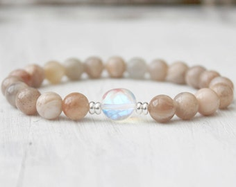 Sunstone Bracelet Wrist Mala Beads Yoga Bracelet Meditation Jewelry