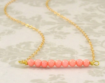 Gemstone Bar Necklace OR Bracelet / Gemstone Necklace/ 14K Gold Filled or Sterling Silver