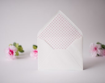 mini hearts lined envelopes (set of 10) - available in 18 colors!