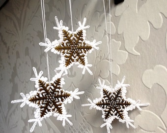 Christmas snowflakes. Christmas tree ornament.