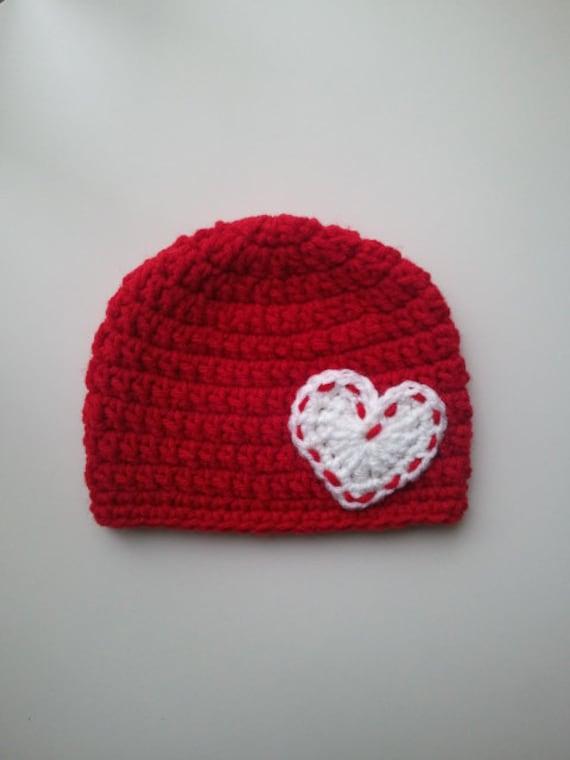 Crochet Valentine Hat : Crochet Valentines Day Hat, Baby Valentines Day Crochet Hat, Newbor...