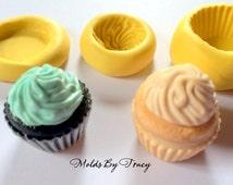 Kawaii Cupcake Mold Mould Resin Polymer Clay Wax Chocolate Fondant (001)