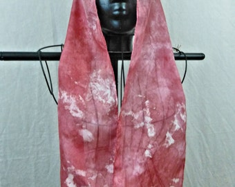 Hand dyed and hand painted luscious silk scarf habotai silk your choice of color