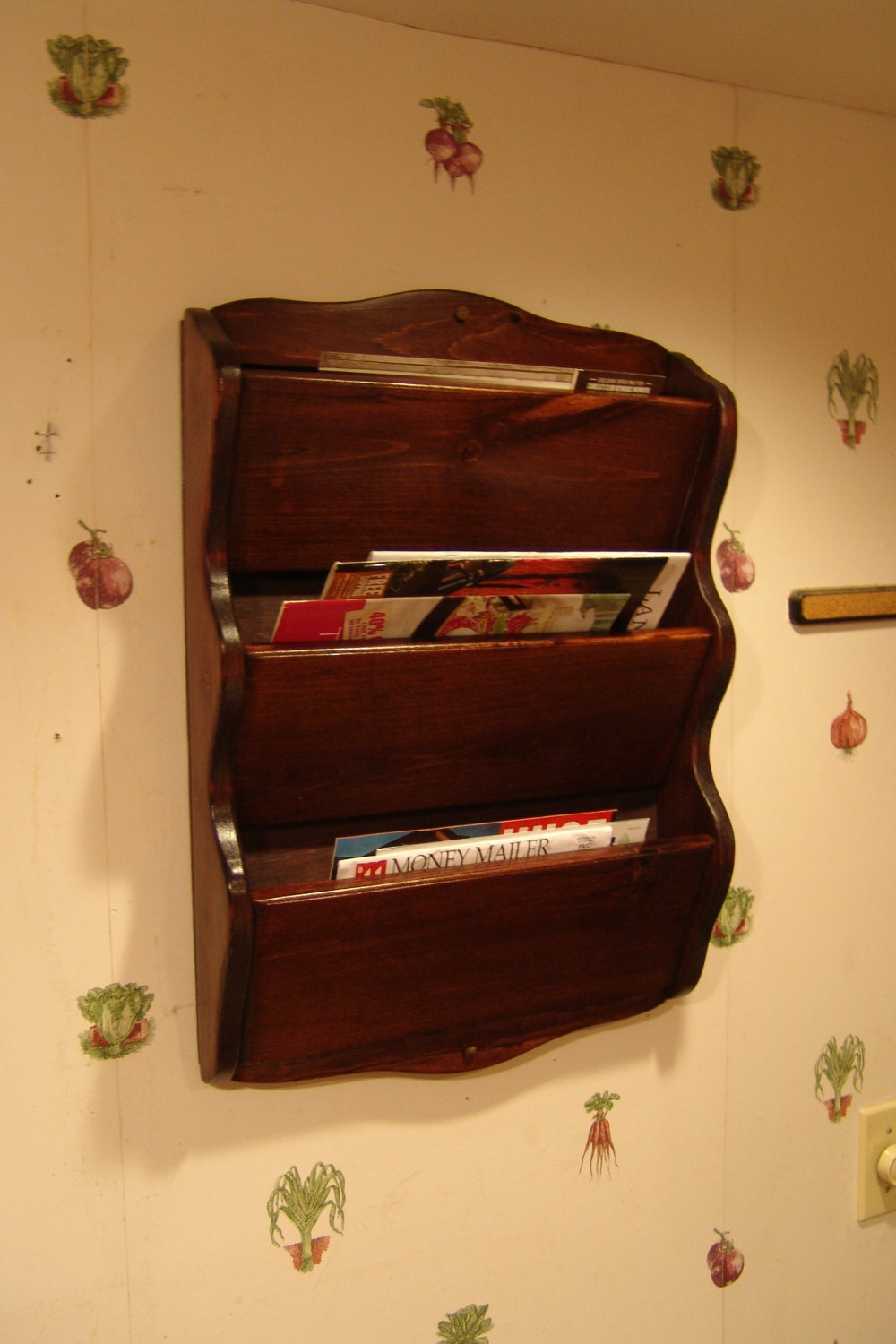 Wall Mail Organizer Rack 16w X 23 H Handcrafted