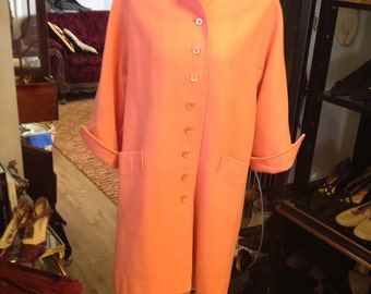 Mod Brightly Colored Vintage Coat