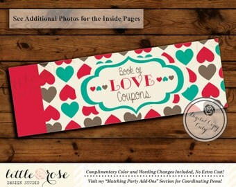 Printable Valentine's Love Coupons - Love Voucher Book - Valentine's Day Gift - DIY Coupon Booklet - Naughty Vouchers - Instant Download