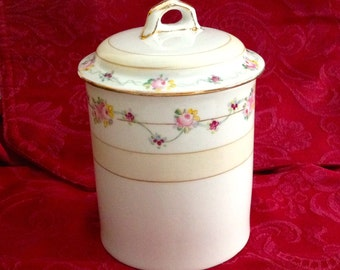 Vintage Nippon Hand Painted Porcelain Condensed Milk Holder