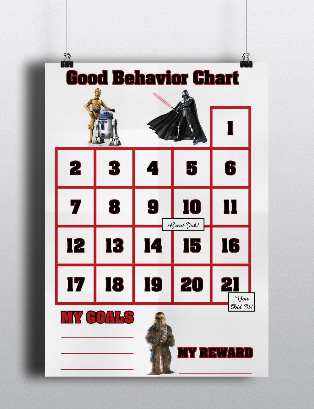 star wars good behavior sticker chart incentive chart star 128270zoom